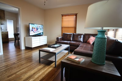 Spacious living area. LED HDTV