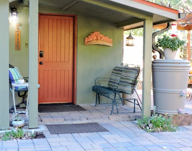 Front Entrance and Porch. Sip Coffee here or on Your Patio!