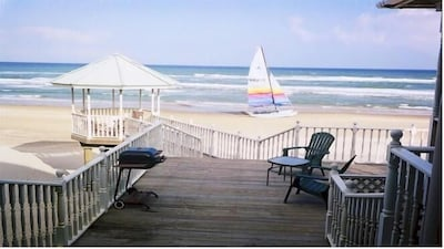 Texas Beach House Second floor condo #2  Walk directly onto beach