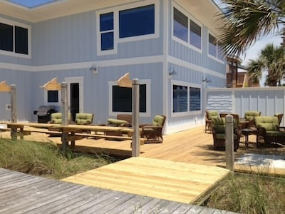 Back view of home facing the gulf