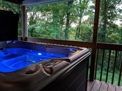 Bearway To Heaven Hocking Hills Theater Room Views Hot Tub Uv Cleaning Hocking County