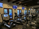 Gym in main clubhouse. Access  included. 2 minutes walk from our Villa.