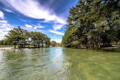 Our beautiful view of the Frio River!