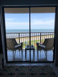 Enjoy Your Private Balcony  Overlooking the Ocean and the Pool. View!!!