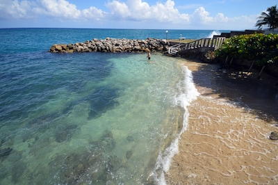 Our private beach cove