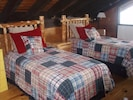 Brand new handcrafted pine twin beds on the loft