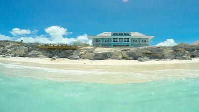 Enjoy the pristine private beach