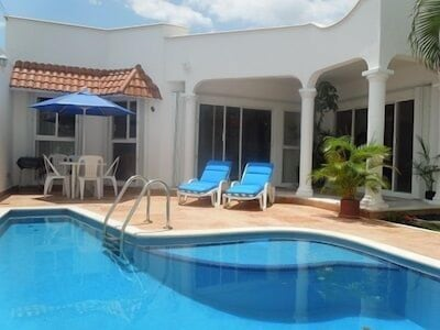 Front pool courtyard