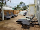 The new back deck by the pool!