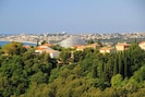 vue panoramique en face,  vers Villeneuve Loubet + Antibes et son Cap