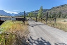 The gate you'll pass through to enter the ranch.
