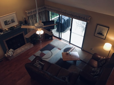 View of Main Level living area from 2nd floor