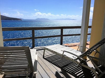 Private deck looking out to the British Virgin Islands