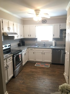 Stainless steel stove and granite countertops- Keurig coffeemaker