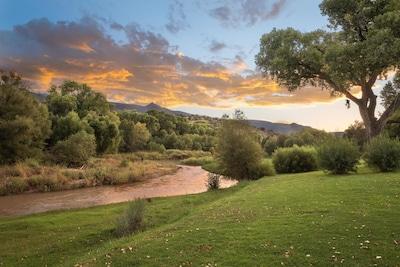 The Lovely Verde River across the street