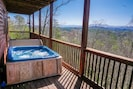Private hot tub with beautiful views