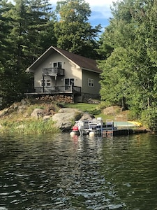 Cottage as viewed from Reeds Bay on Trout Lake!