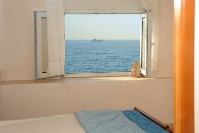 view of the Libyan sea from the bedroom window