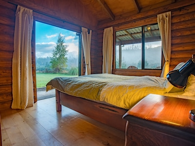 Enjoy the beautiful view from the comfort of your bed