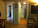 one bathroom and hallway
