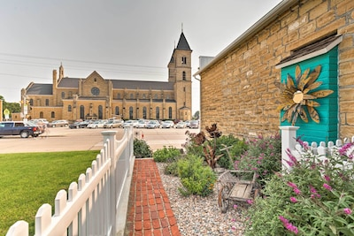 Explore Victoria and St. Fidelis from this historic vacation rental house.
