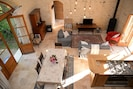 A view of the lounge/dingroom/kitchen from upstairs