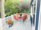 enjoy a meal or cocktail with friends and loved ones outside on the deck