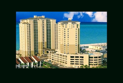 Grand Panama Beach Resort: Tower 1-Gulf-front, Tower 2- Beach via walkover tower