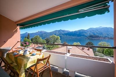 Ausblick von dem privaten Balkon