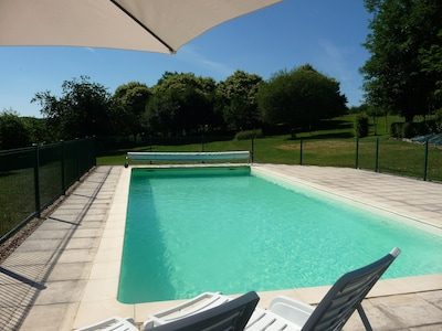 The pool - so inviting (late June - early Sept). country views towards lake.
