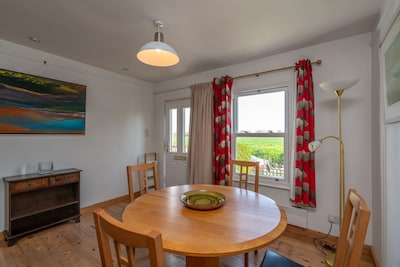 Dutch oak dining table with views over the fields