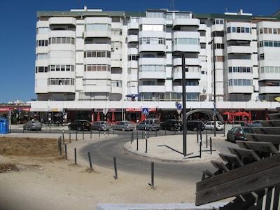 Plage de Costa da Caparica, Almada, District de Setúbal, Portugal