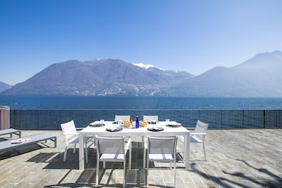 Magnificient view from the terrace main villa