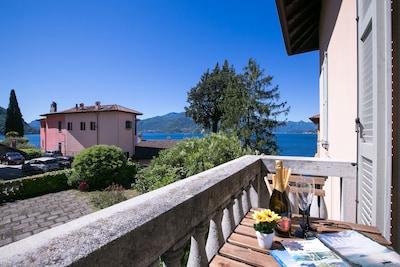 Privaten Balkon mit Blick
