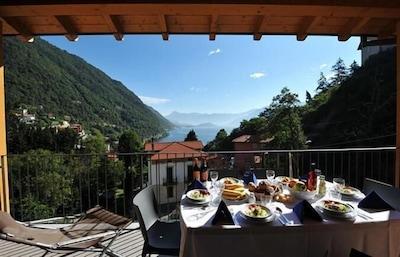 Ausblick von privatem Balkon