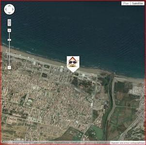 localisation de la maison sur la plage