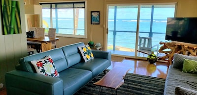 Upstairs living room with Lanai and 180 degree views