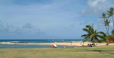 Poipu Beach Park protected swimming bay for children & toddlers!