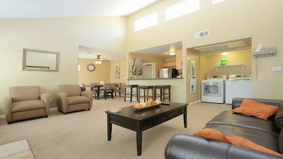 Living room with sleeper