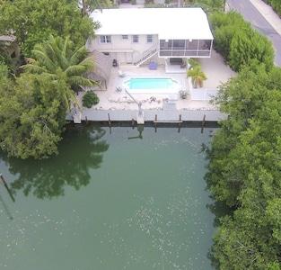 Home sits on natural water way, Hurricane Creek.