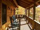 Perfect porch for morning coffee!
