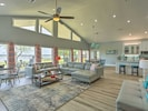 Open concept living/dining