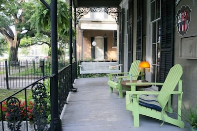 Cool porch under 100+year old Oaks