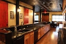 BIG KITCHEN GREAT FOR COOKING. TWO DISHWASHERS, MINI FRIDGE FOR DRINKS, GRANITE