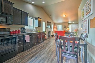 This 2-bed, 2-bath house has a spacious open-concept living area!