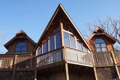 Large spacious deck and lots of Windows to enjoy the magnificent view.