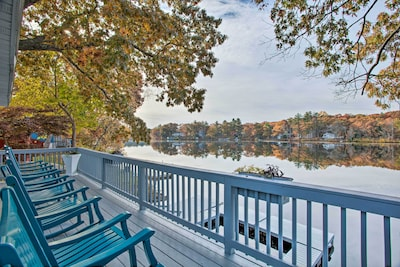 A lake escape awaits at this vacation rental home in Plainville!