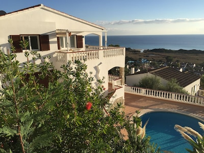 FantaSea Home and its private refreshing pool offering a stunning sea view