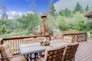 Outdoor living area with incredible mountain view