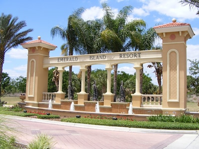 Entrance to Emerald Island Resort